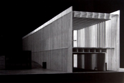 Model of Zumthor's Topography of Terror Museum. Image © Zumthor Tublr