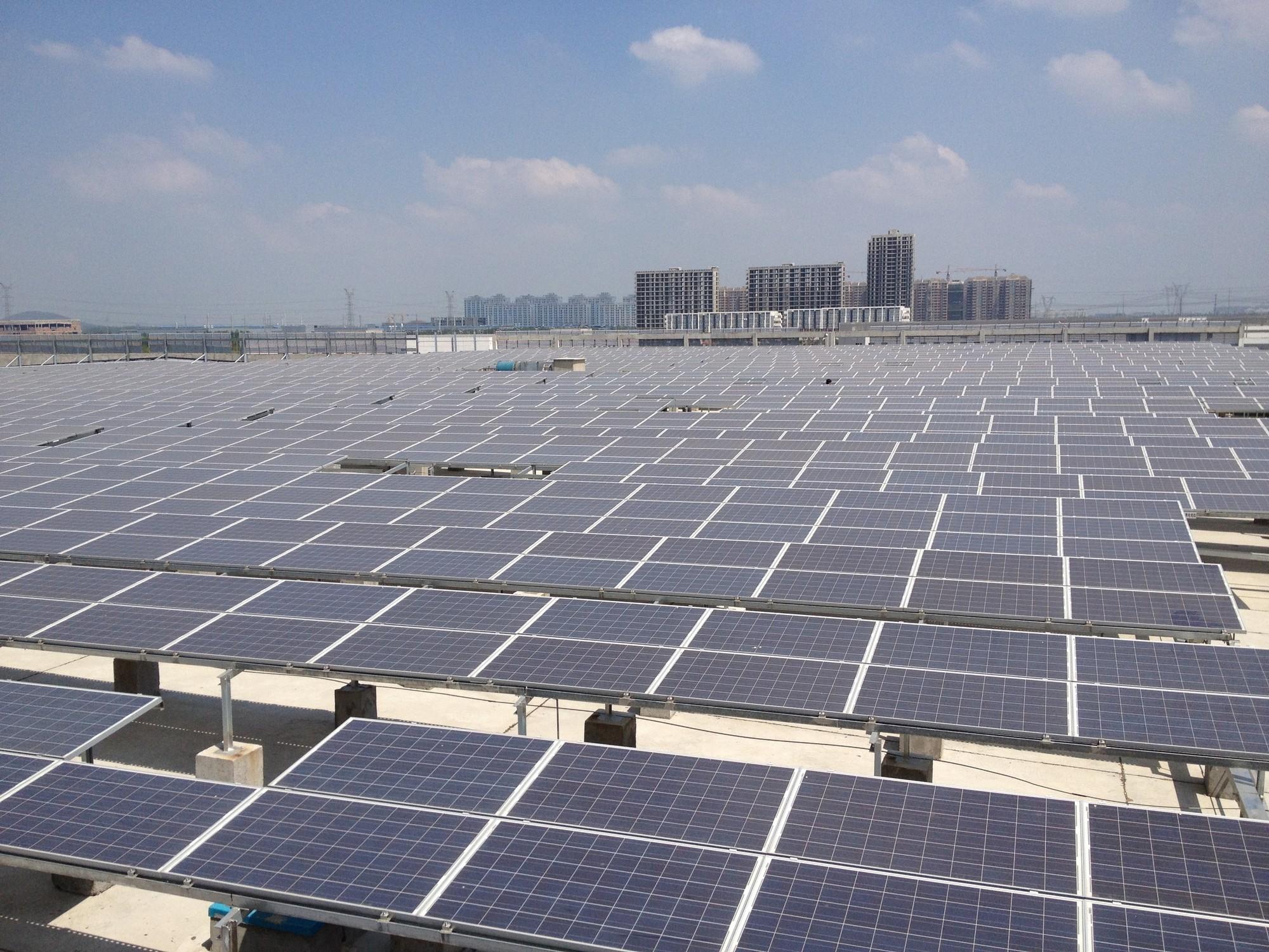 Granja Solar apoyada por China CDMFund. Image © ONU