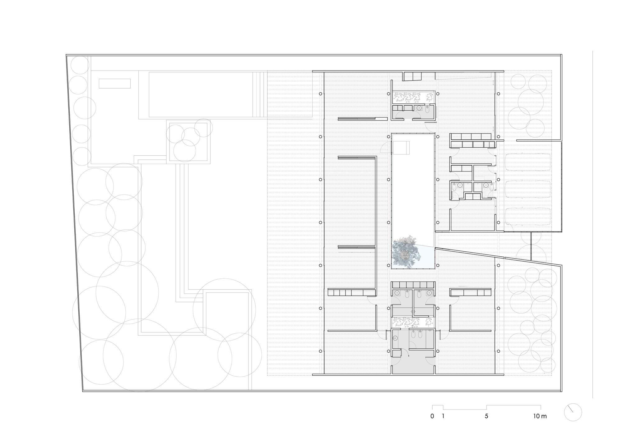 Galeria de casa p tio undurraga dev s arquitectos 14 - Plantas para patio ...