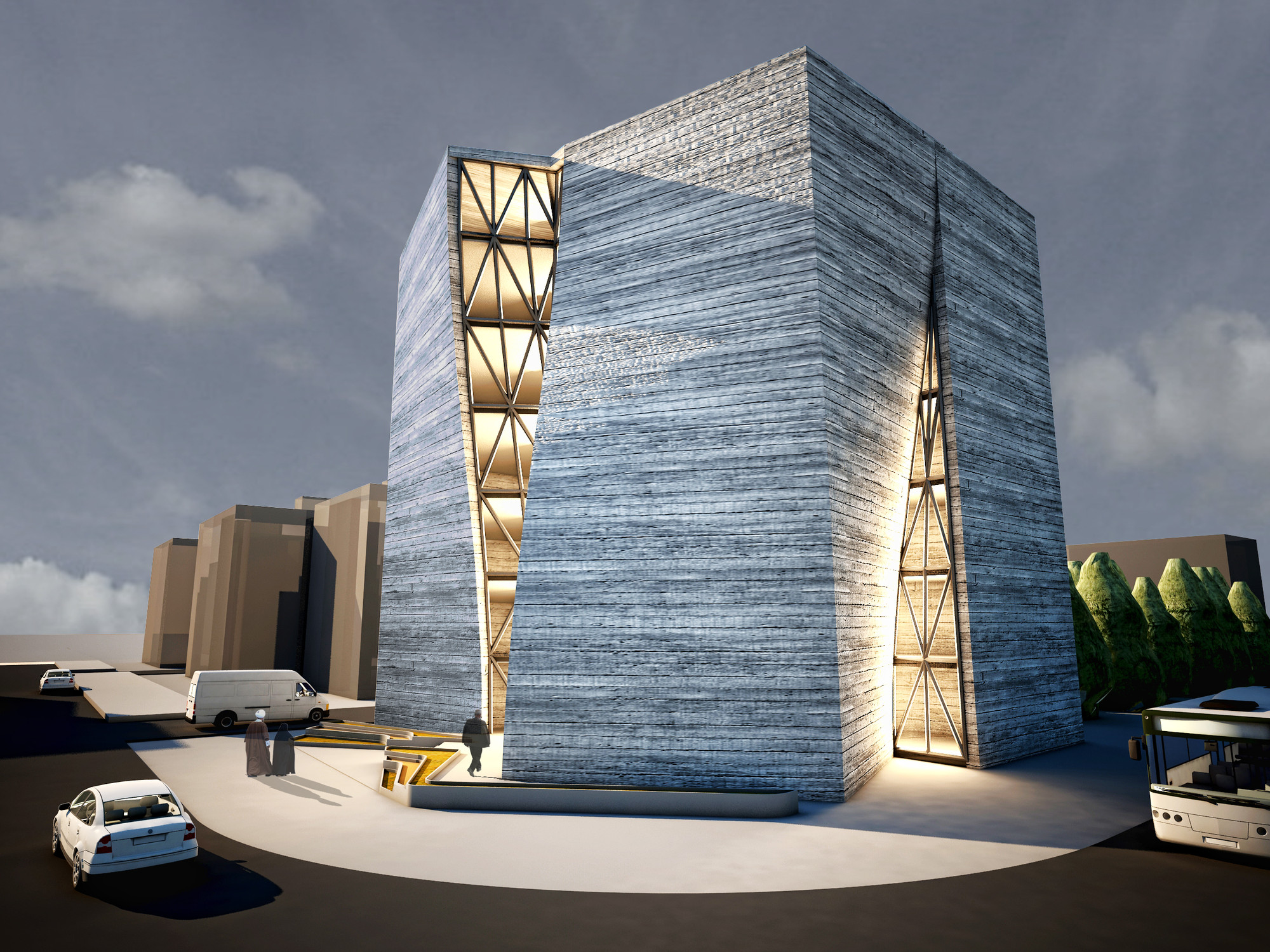 qom central building of construction engineering organization qom central building of construction engineering organization partar architecture studio courtesy of partar architecture