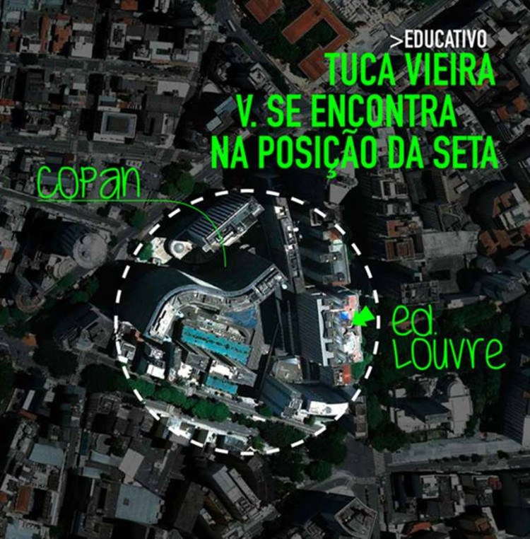 Diálogo Louvre-Copan - Conversa com o artista Tuca Vieira, Cortesia de X Bienal de Arquitetura de São Paulo