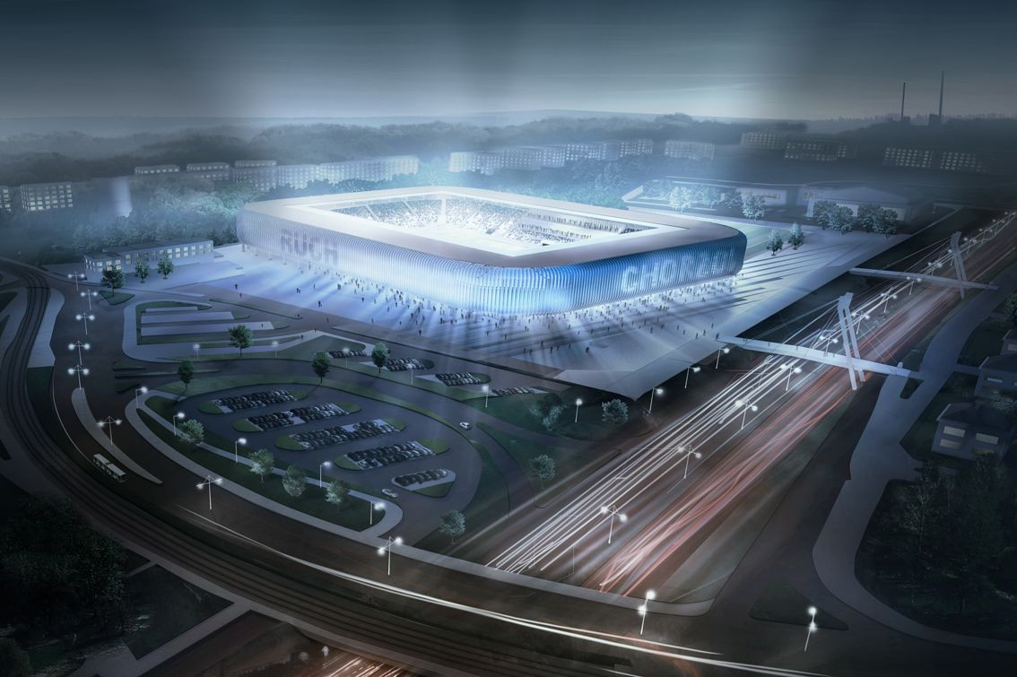 GMT Mysłowice Win Competition to Design Poland's Stadion Ruch Chorzów, Courtesy of GMT