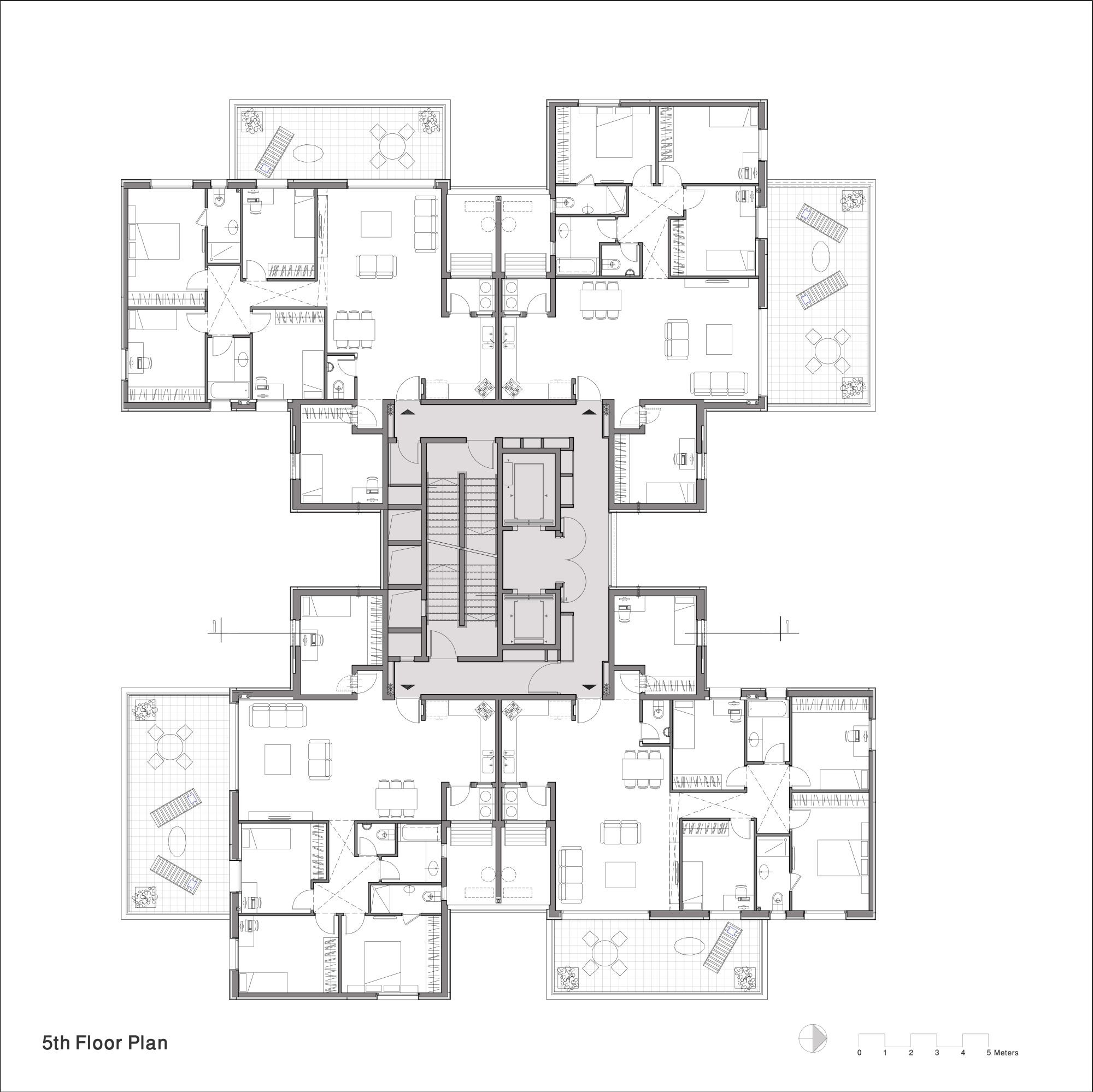 Gallery of z design building ami shinar amir mann 16 for Residential building drawings download