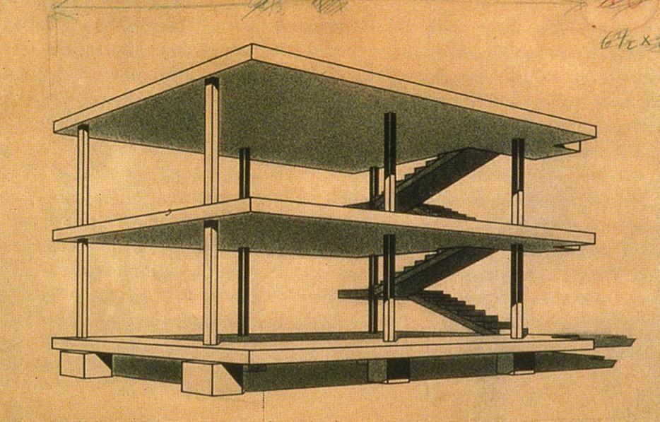 Le Corbusier's Dom-Ino frame design. Image