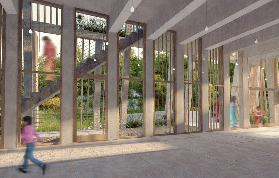 Orfanato y Centro de Aprendizaje Lali Gurans. Imagen © MOS Architects