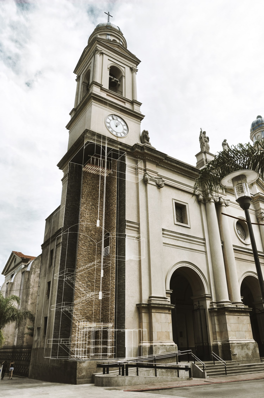 En Detalle: Intervención de la Torre Sur de la Catedral de Montevideo / Estudio LT, Exterior, Torre Cortada. Image © Daniela Soto, Manuel Machado