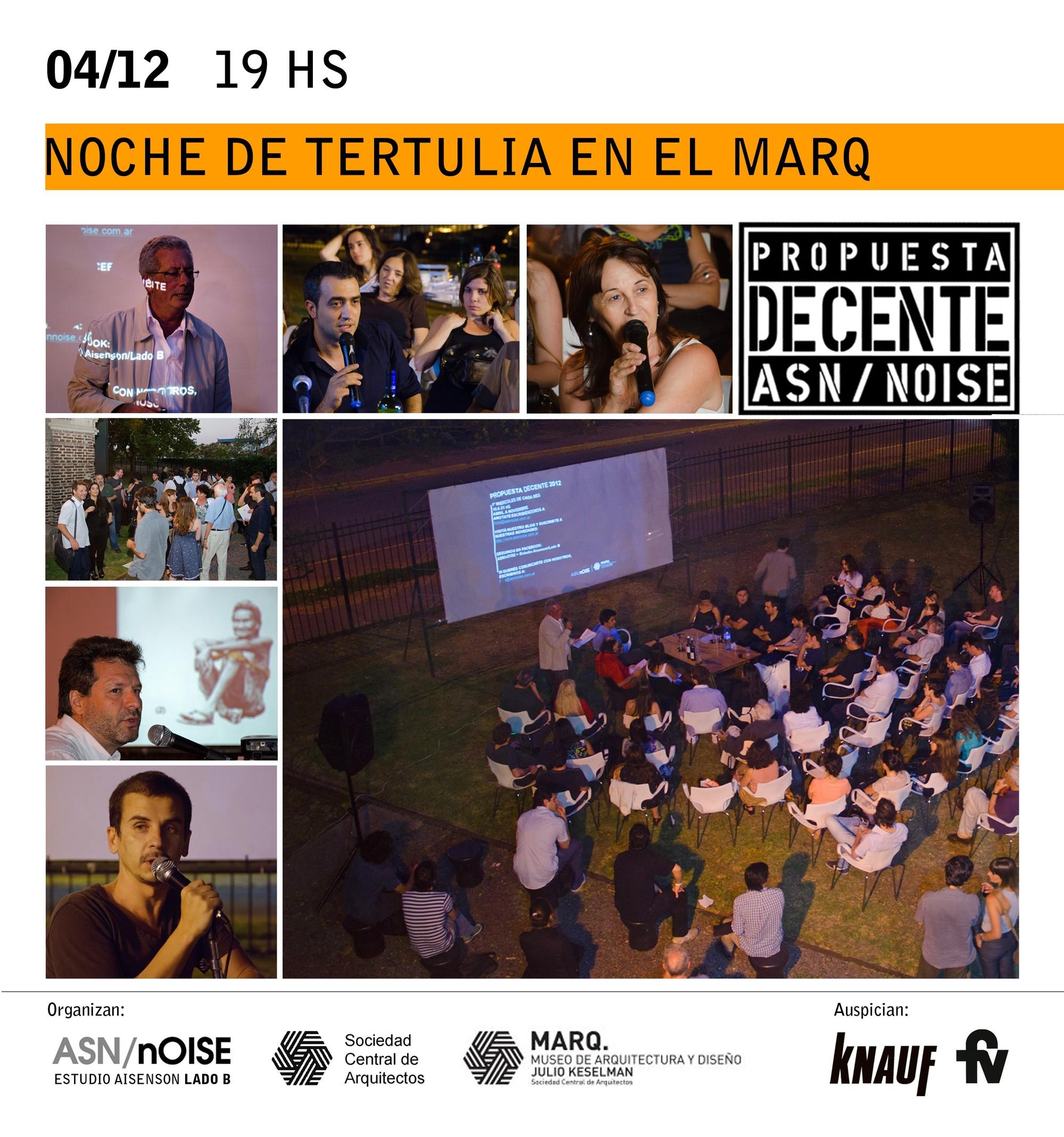 Noche de tertulia en el MARQ / Buenos Aires, Courtesy of MARQ