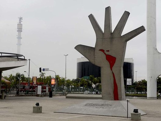 El Memorial de América Latina después del Incendio, © Ricardo Matsukawa / Terra
