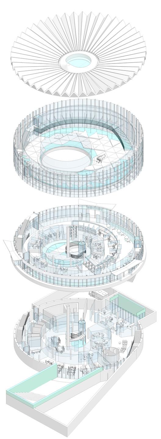 Axonometric. Image Courtesy of GowinSiuta