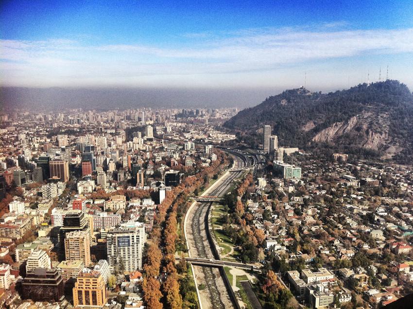 Latin America's Top 8 Smart Cities, Santiago, Chile took the top spot on the list. Image via Plataforma Urbana