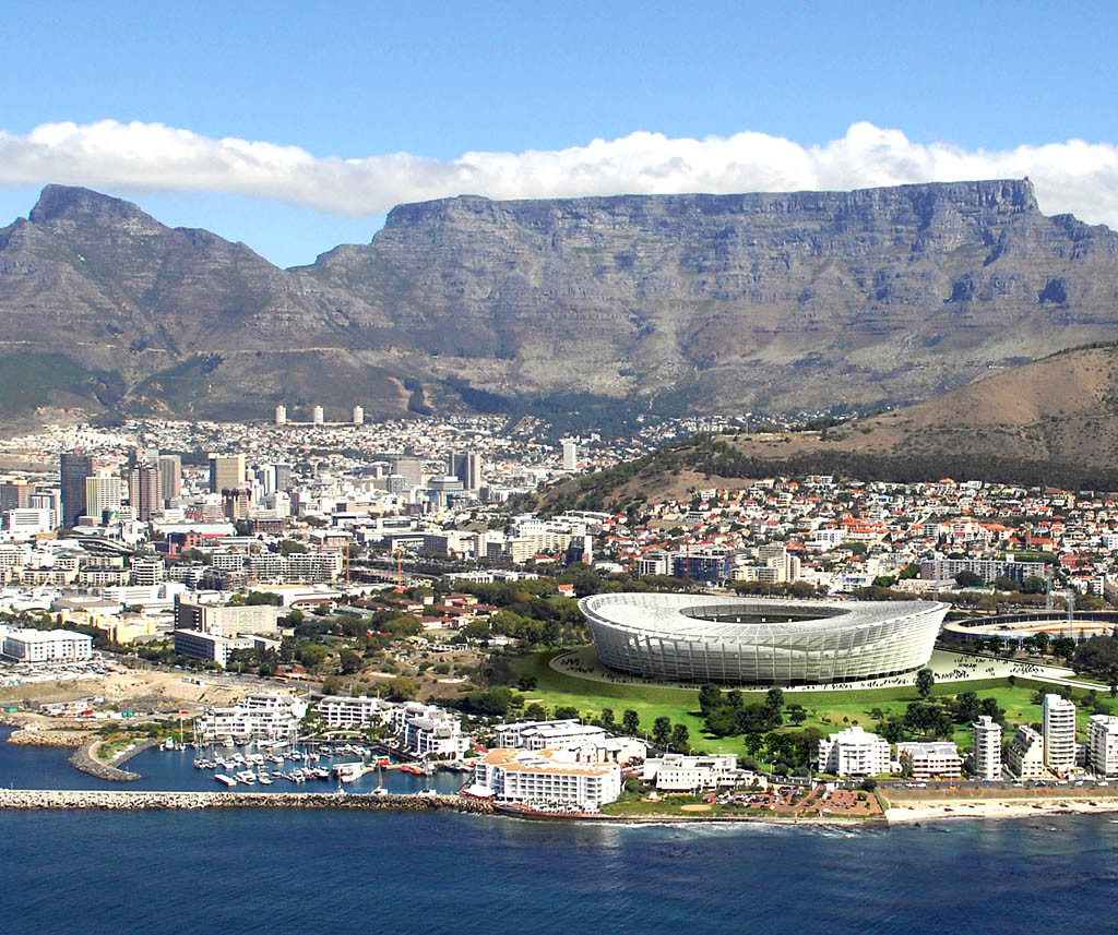 What Will Be Mandela's Spatial Legacy?, Rendering for Greenpoint Stadium. Image Courtesy of http://bensnewgreenpointstadium.webs.com/
