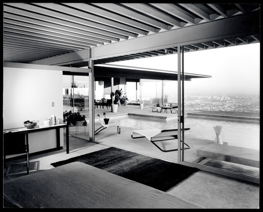 The oft-photographed house (this shot was taken by the legendary Julius Shulman) is one of ten Case Study Houses just added to the National Register of Historic Places after a decade-long effort by the Los Angeles Conservancy. The house is open for tours. Image Courtesy of J. Paul Getty Trust/Julius Shulman Photography Archive, Research Library at the Getty Research Institute