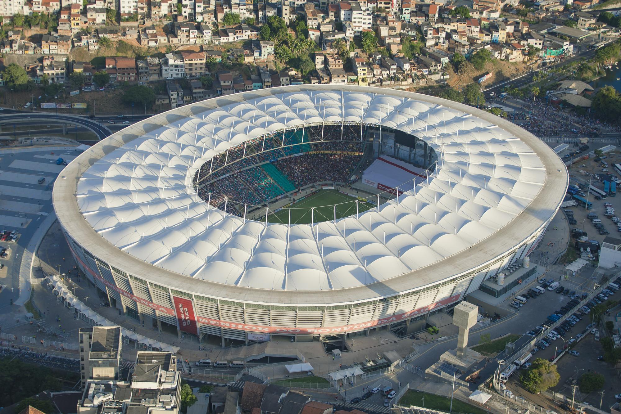 Arena Fonte Nova. Image © Portal da Copa/ME