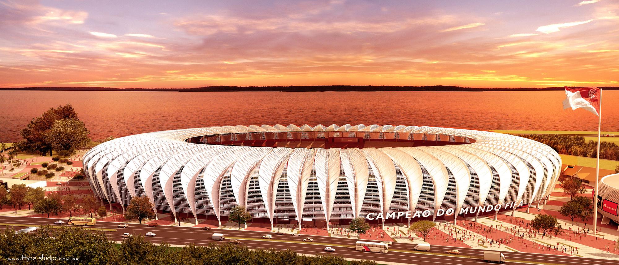 Estadio Beira Rio. Image Cortesia de Hype Studio
