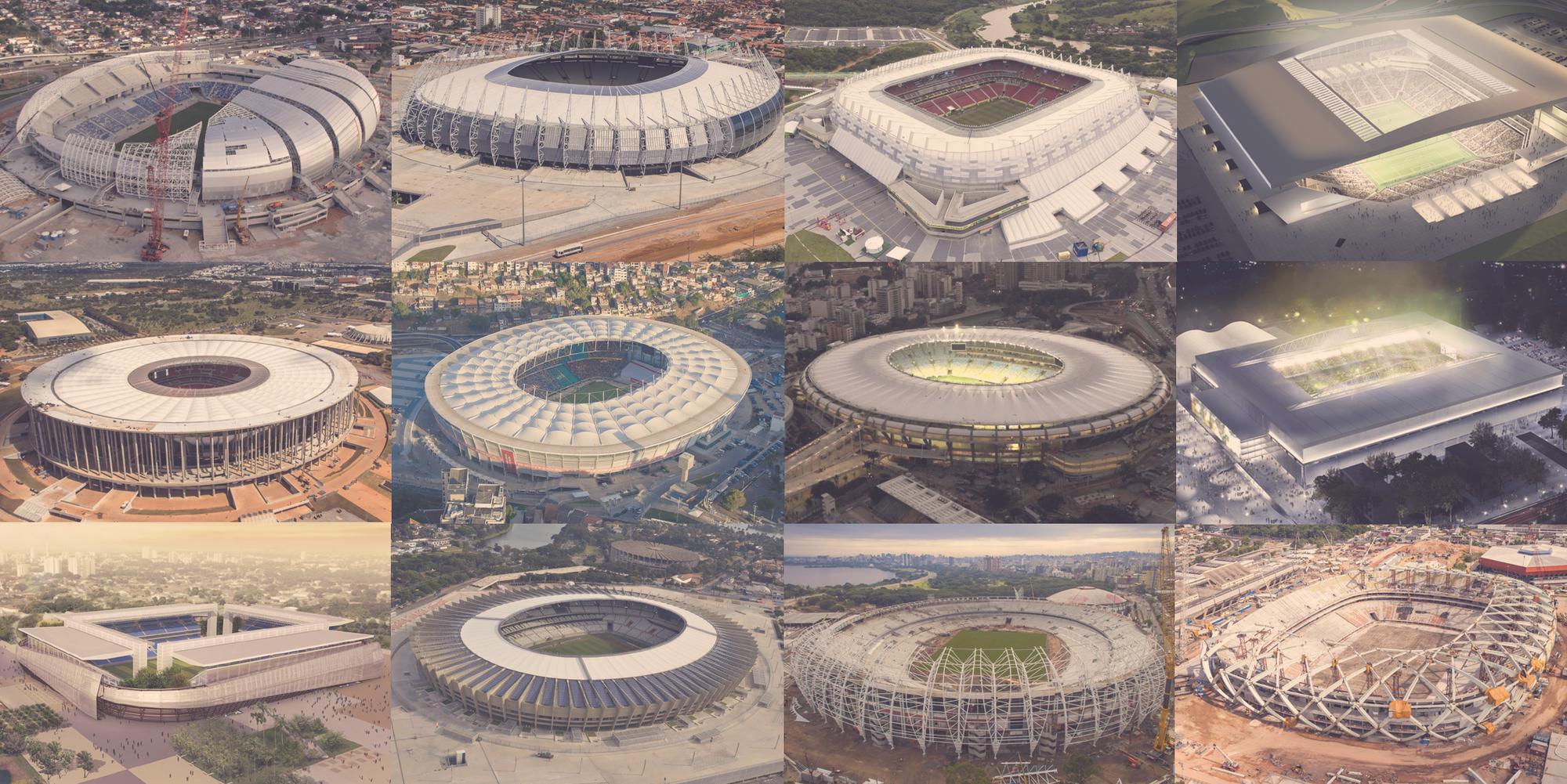 Especial Brasil 2014: los estadios donde jugarán los equipos hispanoamericanos, Los 12 Estadios de la Copa Mundial de Fútbol Brasil 2014