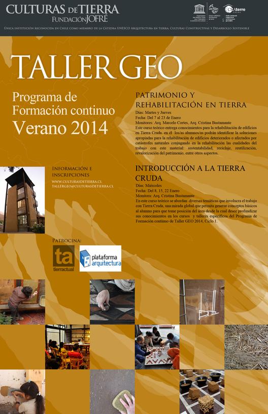 Talleres GEO de verano: Construcción en tierra / Fundación Jofré, Courtesy of Fundación Jofré