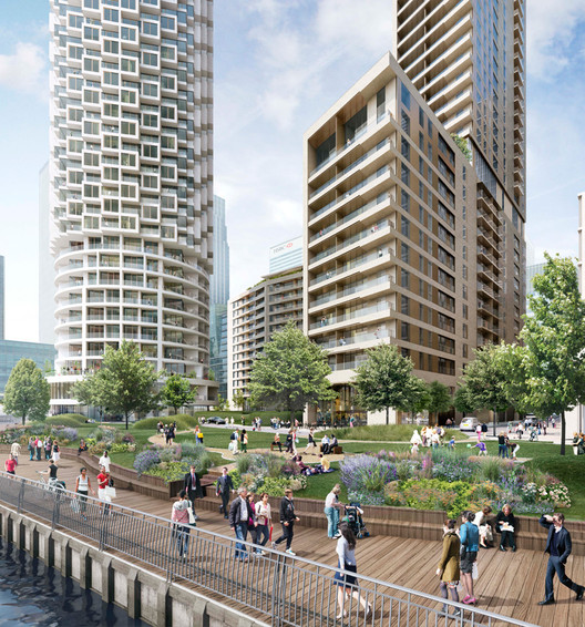 Boardwalk. Image Courtesy of Canary Wharf Group plc