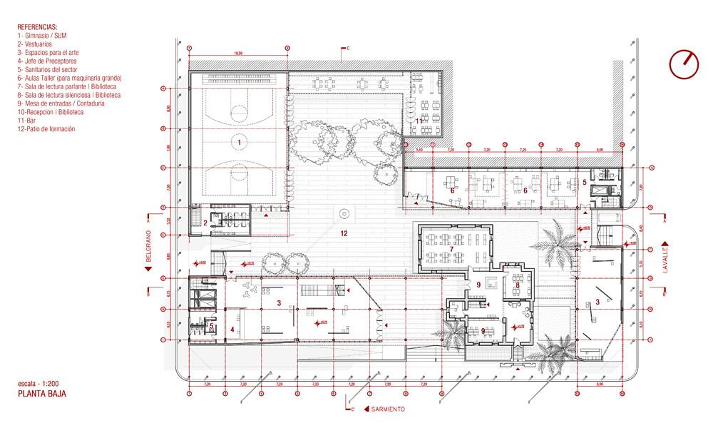 Resultados concurso arquifadu nueva escuela de educaci n for Plantas de colegios arquitectura