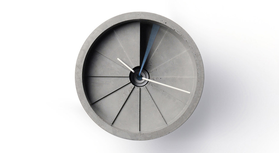 4th Dimension Concrete Wall Clock / 22 Design Studio