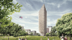 C.F. Møller and DinnellJohansson's Wooden Skyscraper Wins International Competition