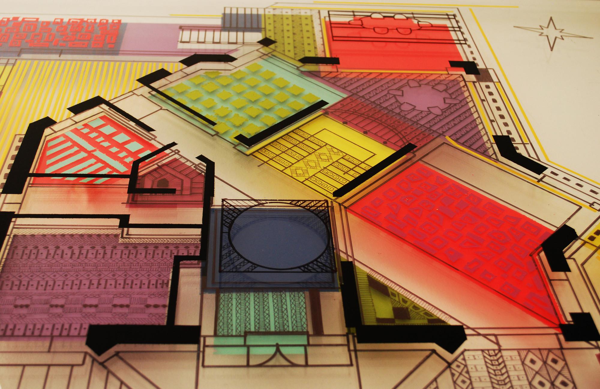 Arte y Arquitectura: Reinterpretación de planos arquitectónicos por Isabel Geisse, © Cortesía Isabel Geisse