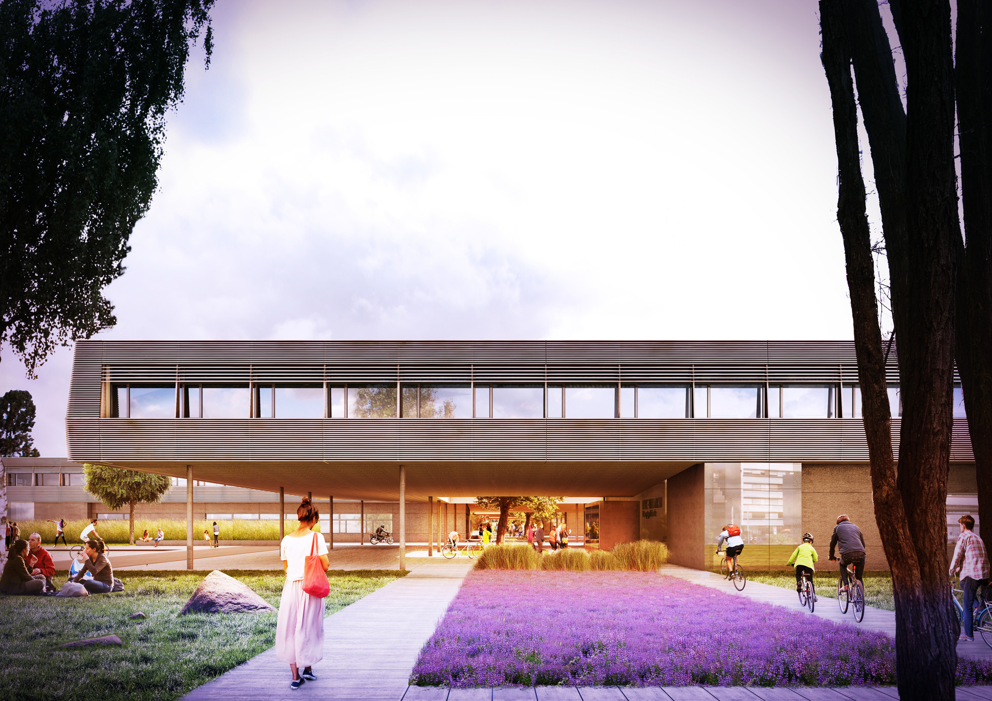 Bramberger Wins Competition to Design High Tech Campus in Austria, Communications Promenade. Image © Bramberger Architects