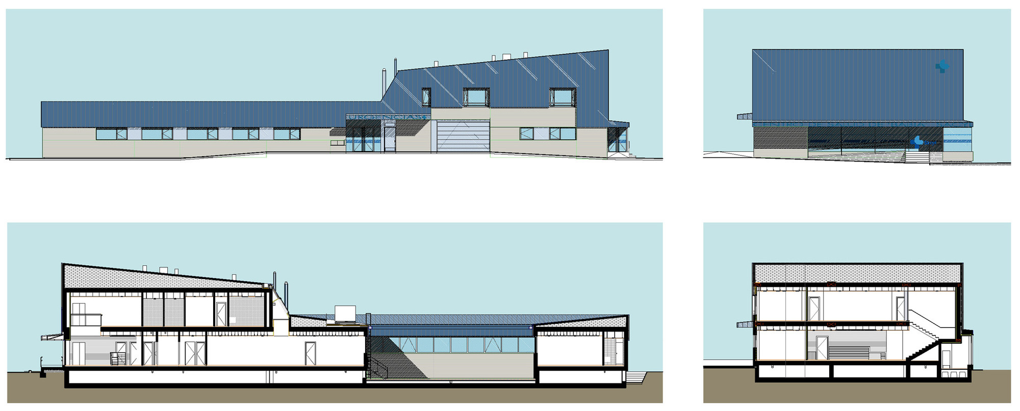 Ping Mall Plan Elevation Section : Babia health center virginiaarq archdaily