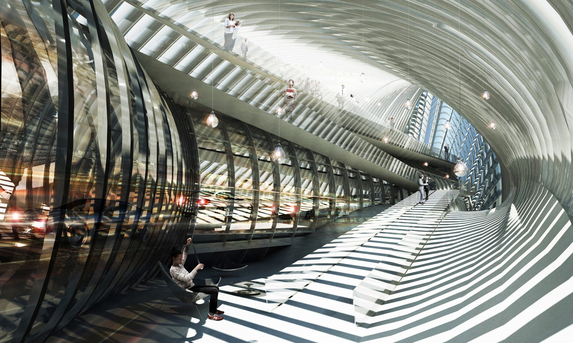 Centro de exhibición . Image Courtesy of BAT + ACHA ZABALLA Arquitectos