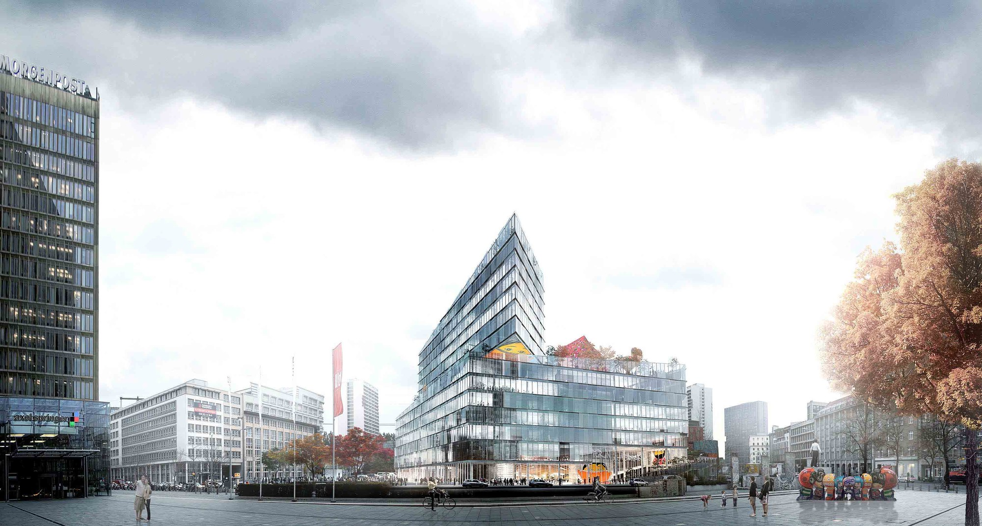 Proposal from BIG. Image © BIG-Bjarke Ingels Group