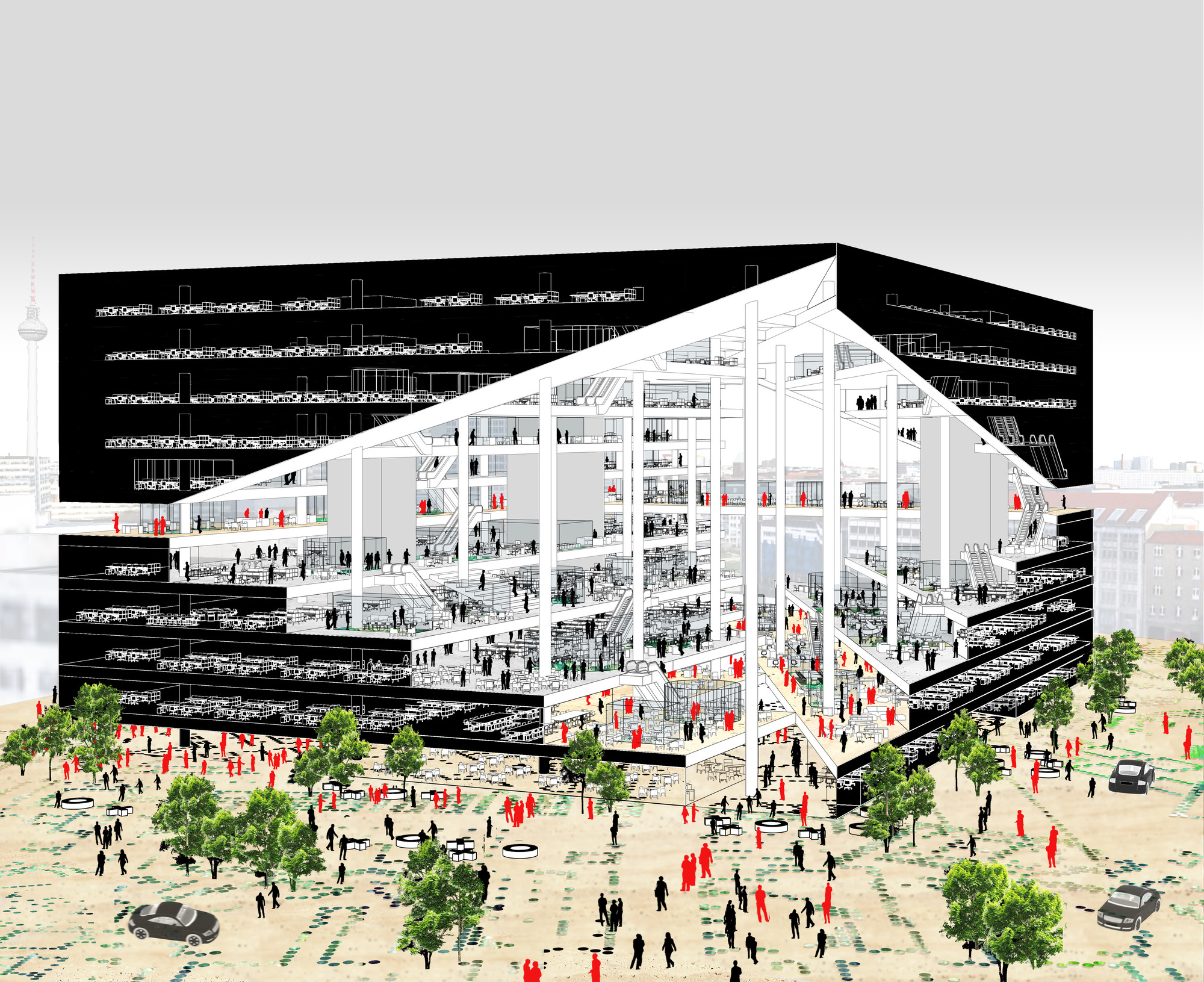 Big oma b ro os to compete for new media campus in for Architecture buro