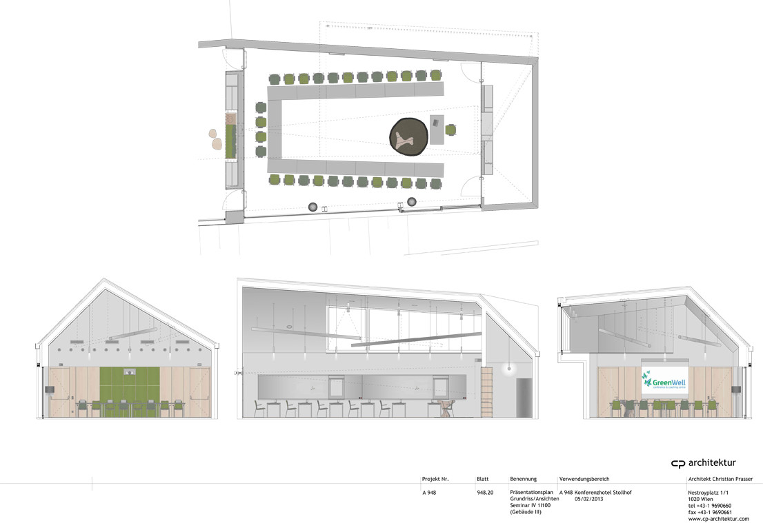 Gallery of conference and coaching center stollhof cp for Plan your room