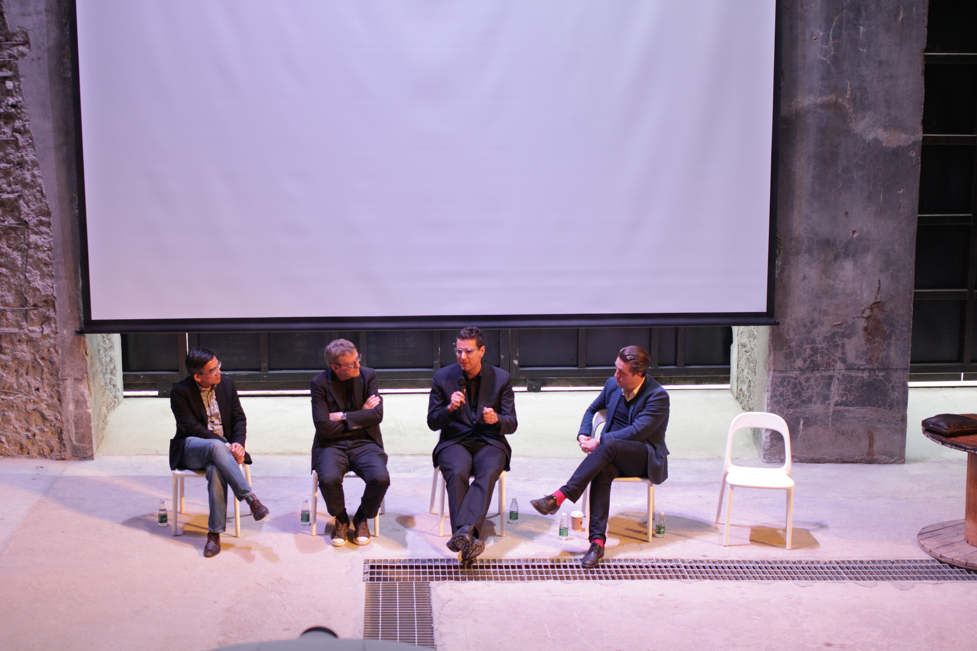 The Future of Architecture Education - Discussion panel with Puay-peng Ho (Chinese University of Hong Kong), Mark Wigley (Columbia GSAPP), Alexander D'Hooghe (MIT), Nanne de Ru (The Berlage) moderated by Ole Bouman © ArchDaily