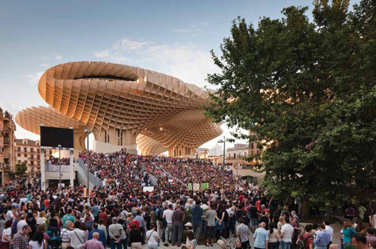 Metropol Parasol; J. Mayer H. Architekten. Image Courtesy of Urban Living Awards