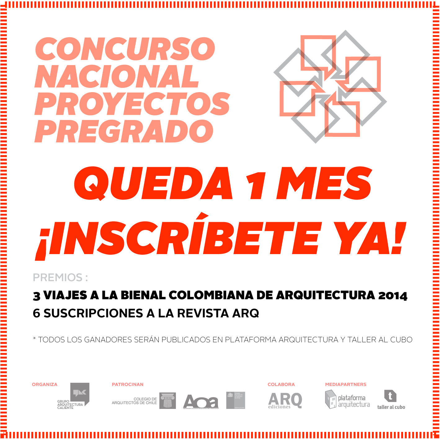 Un mes para inscribirte en el Concurso Nacional de Proyectos de Pregrado / Chile, Courtesy of Arquitectura Caliente