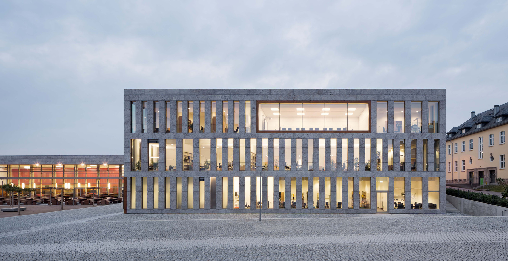 New building for the University- and State-Library Fulda  / ATELIER 30, © Werner Huthmacher