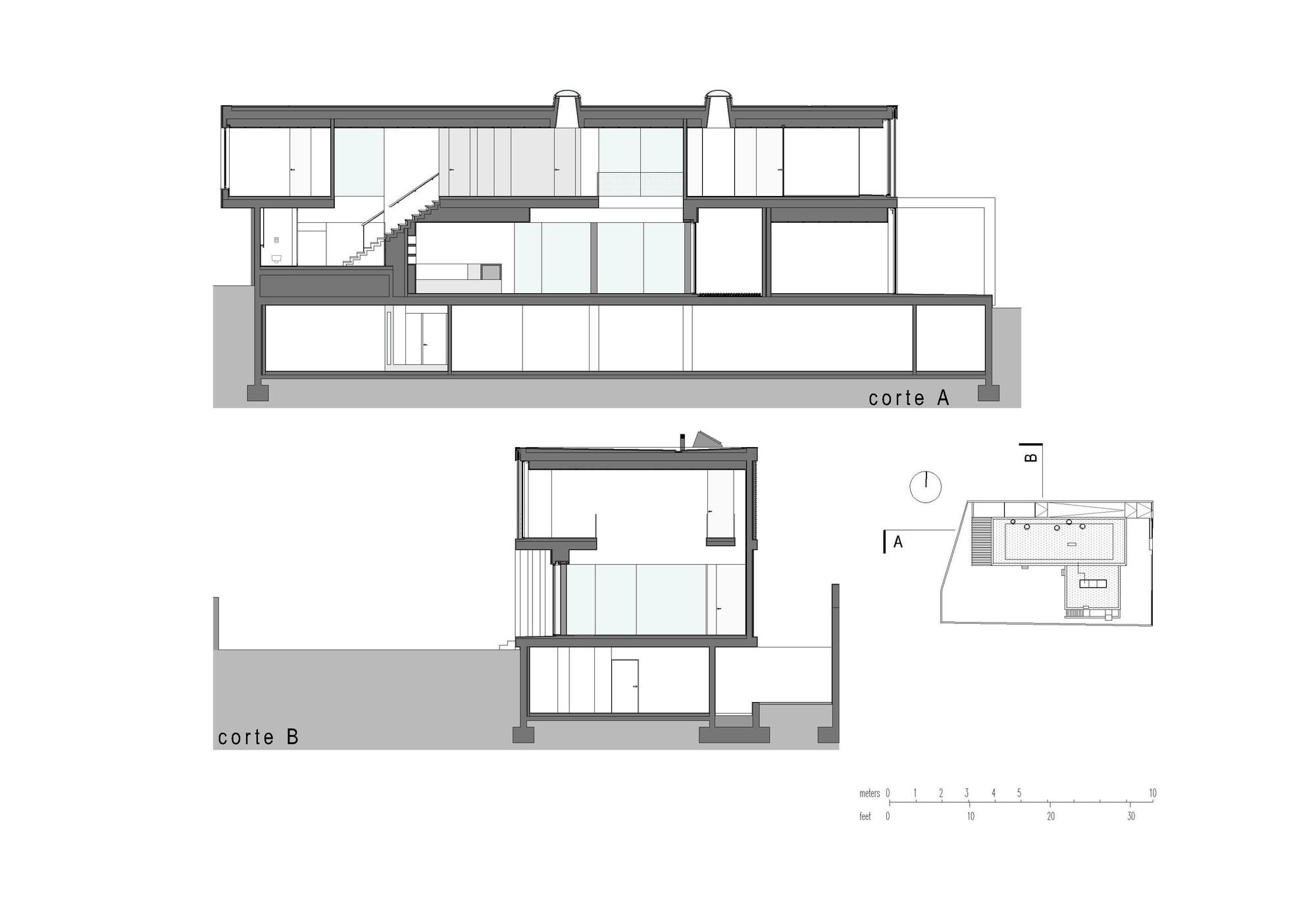Cortes. Imagen Cortesía de Leonor Duarte Ferreira + pmc arquitectos - Miguel Passos de Almeida y Carlos Sousa Coelho