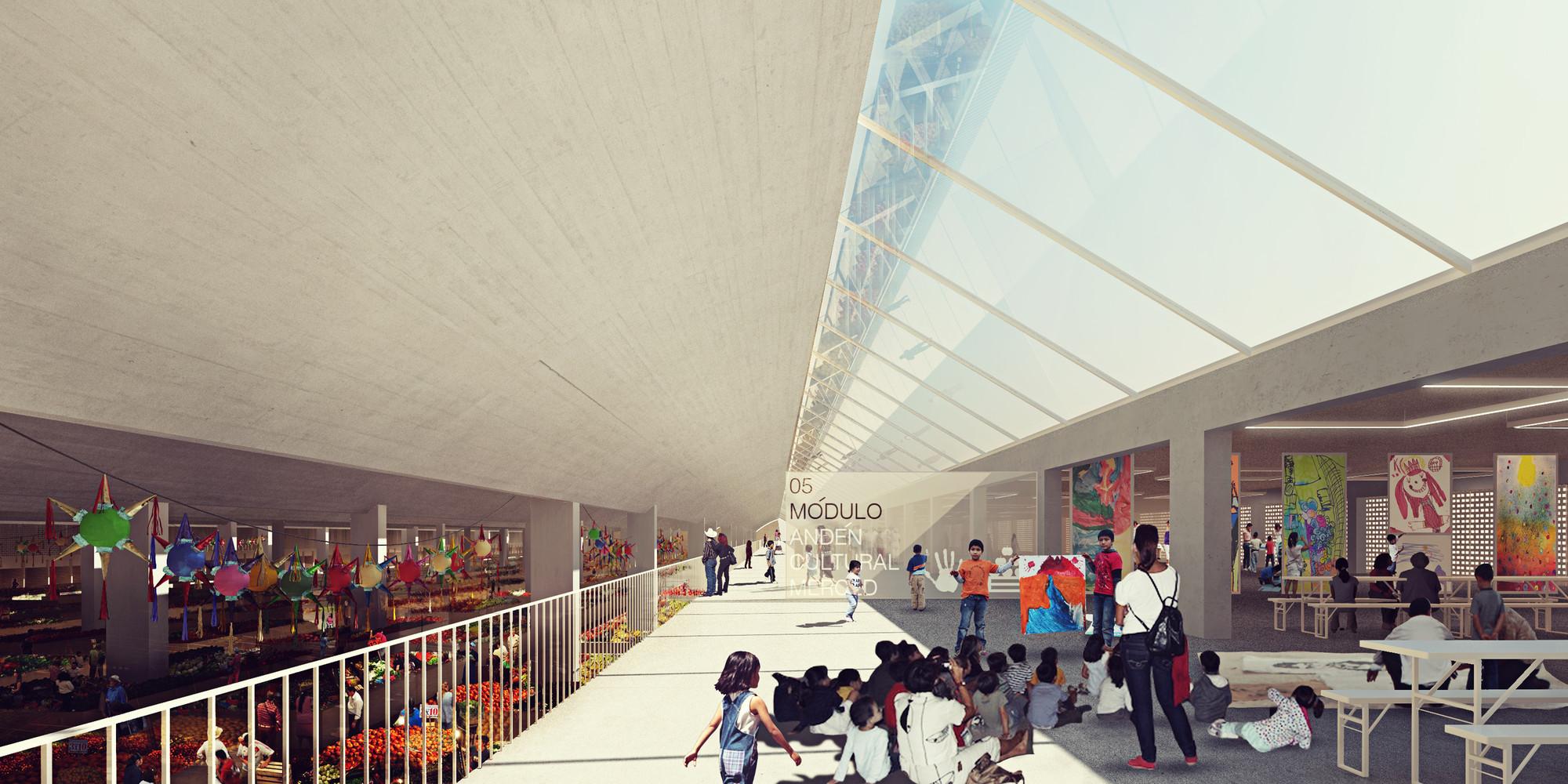 Vista andén cultural. Image Courtesy of José Muñoz Villers y Carlos Marín