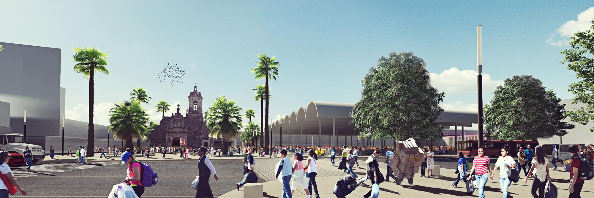 Vista metro Merced. Image Courtesy of José Muñoz Villers y Carlos Marín