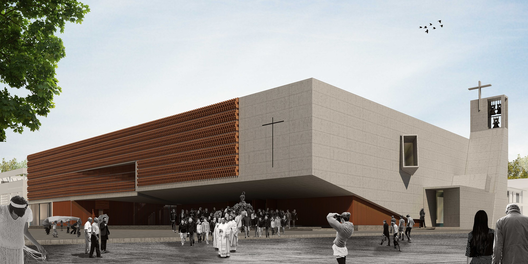 """Segundo Lugar Concurso de anteproyectos """"Nuevo Templo en la ciudad de Chajari"""",  Entre Ríos / Argentina, Courtesy of Equipo Segundo Lugar"""