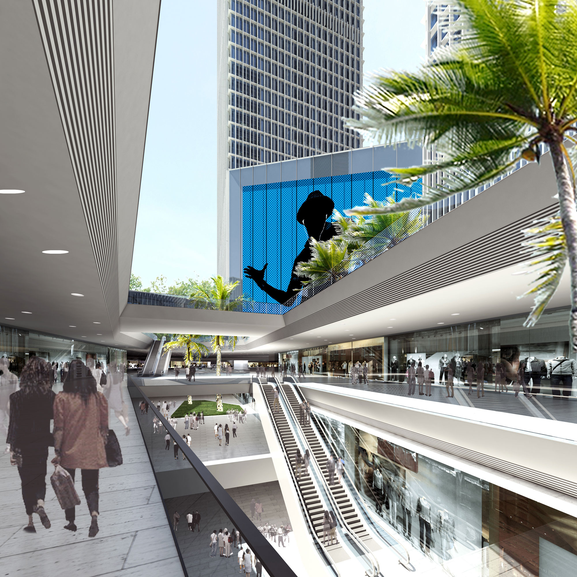 Shopping Interior. Image © gmp Architekten