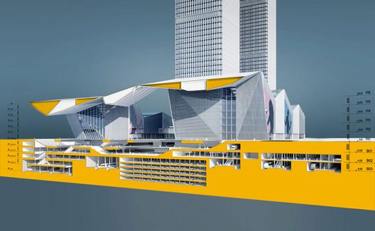 Section. Image © gmp Architekten