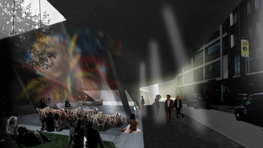 Second Place: Symbiotic Venue. Image Courtesy of London Cinema Challenge / Combo Competitions