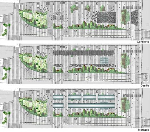 10 Fig. 4. Mismo lugar, distinto uso, distinto espacio. Concurso Plaza de Mula. Murcia. Image