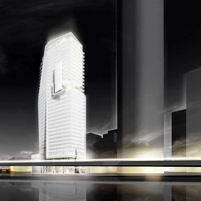 Proyecto Mitikah Tower de Richard Meir & Partners, Courtesy of Richard Meier & Partners Architects