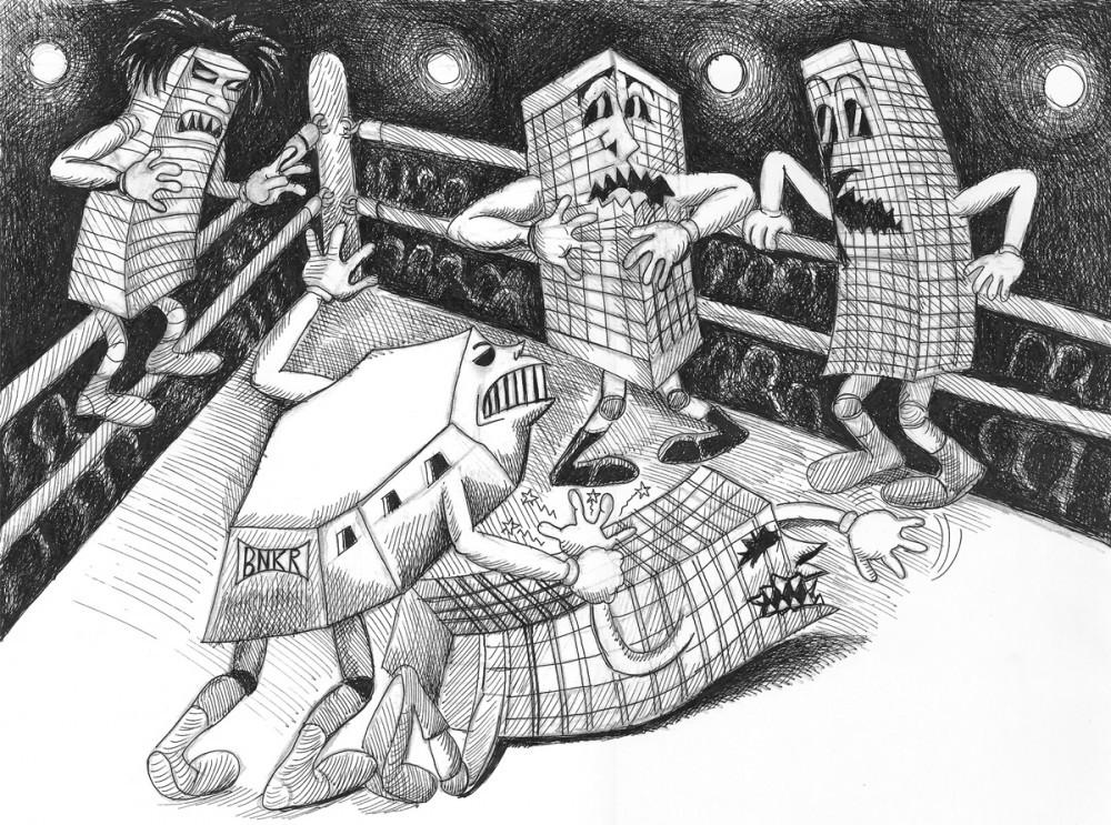 BUNKER luchando contra edificios convencionales