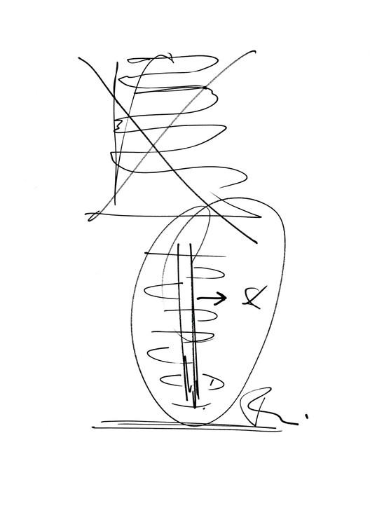 Sketch / Ben van Berkel. Image Courtesy of UNStudio