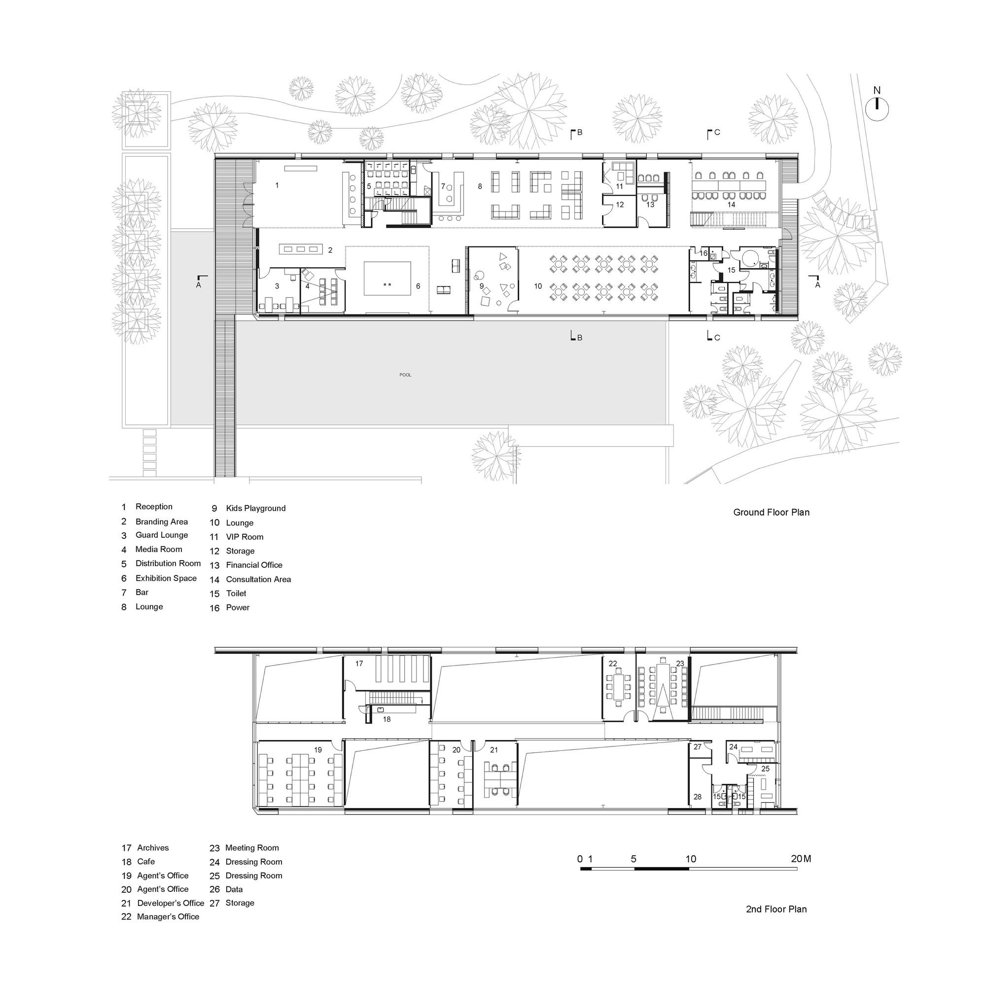 Open prototype for temporary sales pavilion open for Pavillion house plans