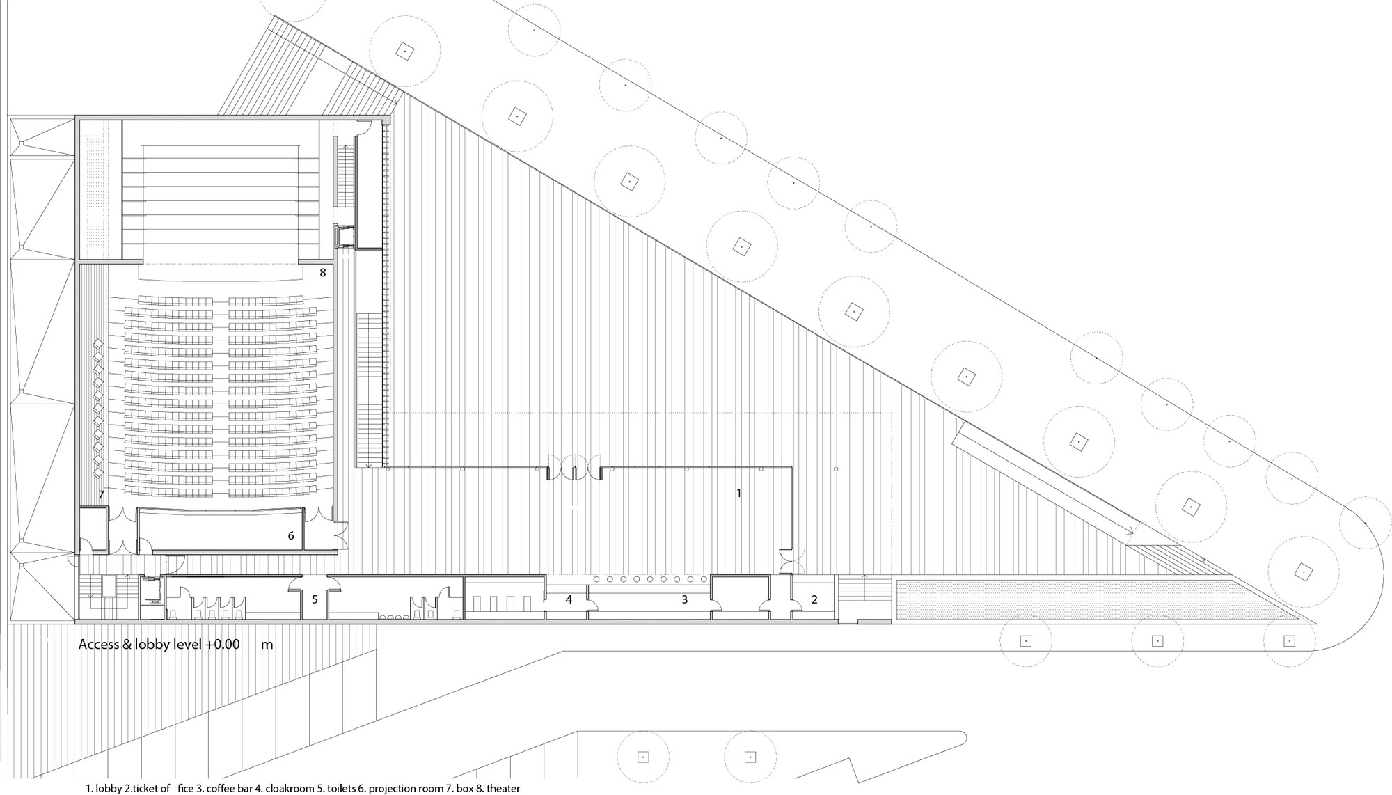 Municipal theater at arahal javier terrados estudio de for Plan estudios arquitectura
