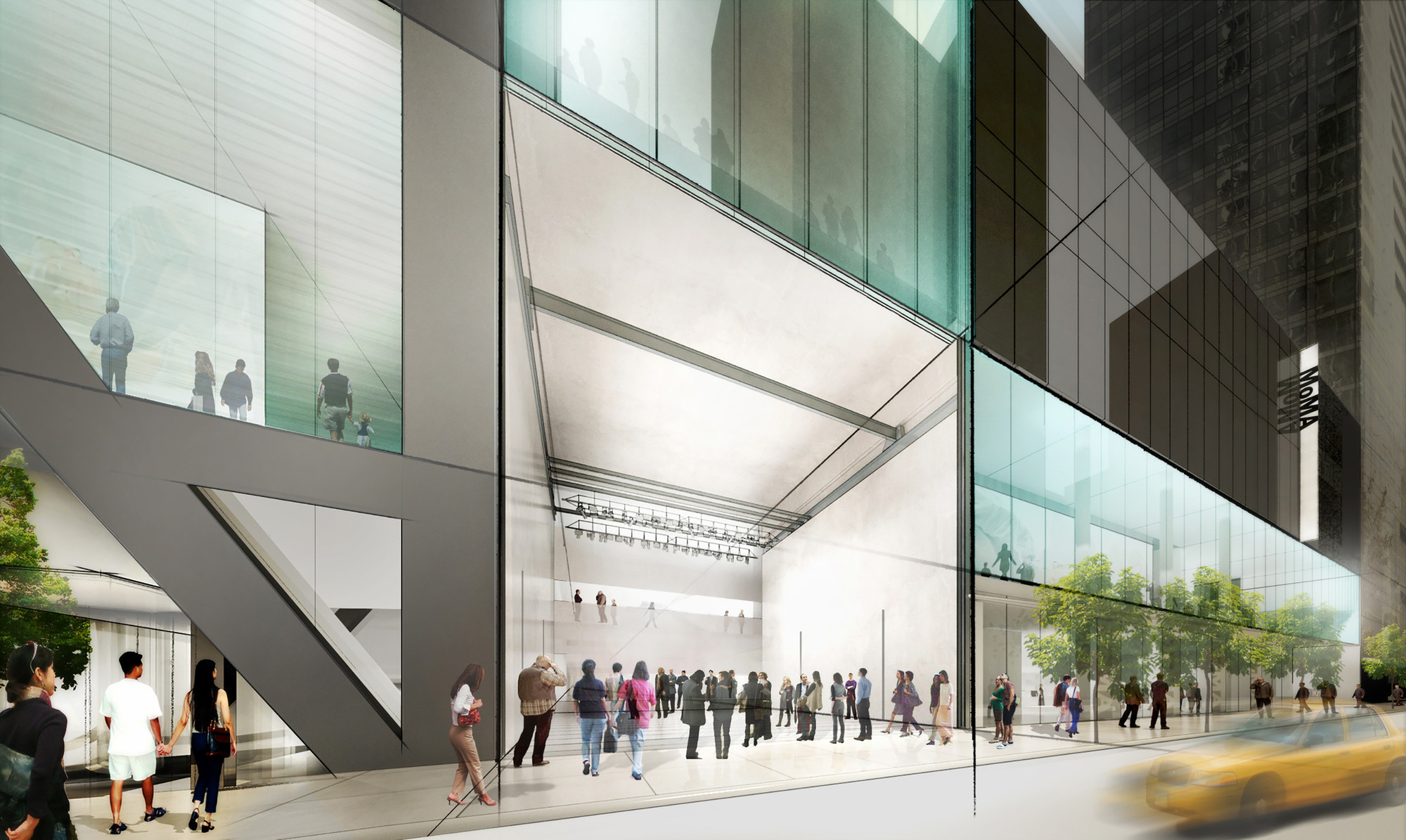 "Confirmed: American Folk Art Museum to Be Demolished, Rendering of the ""art bay"" of the new MoMA, by Diller Scofidio + Renfro. Image Courtesy of MoMA"