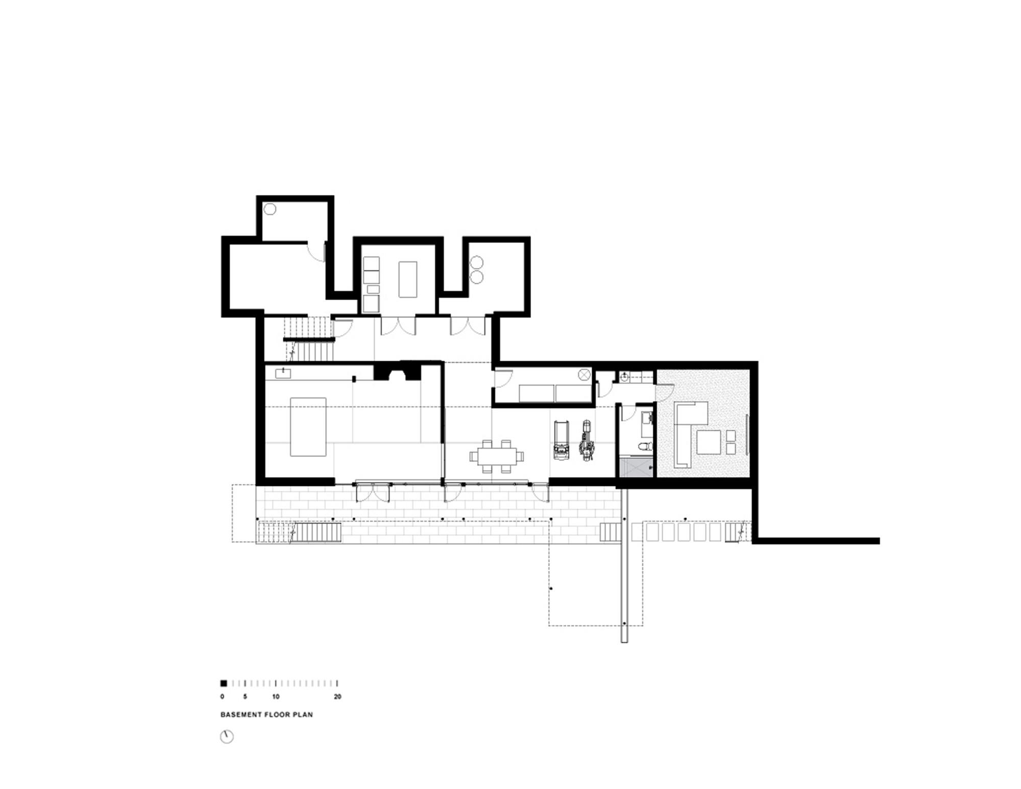 gallery of riggins house robert m gurney architect 21 riggins house basement floor plan